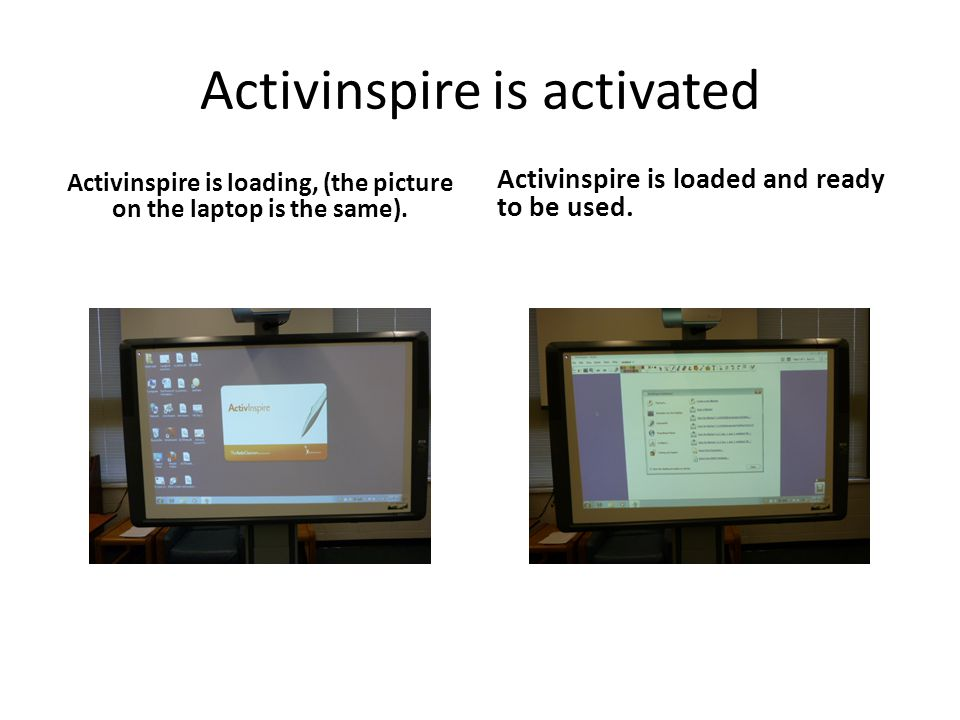 Activinspire is activated