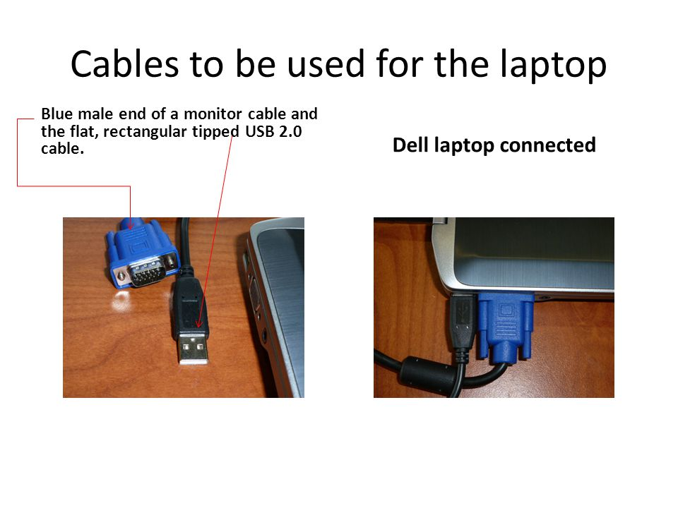 Cables to be used for the laptop