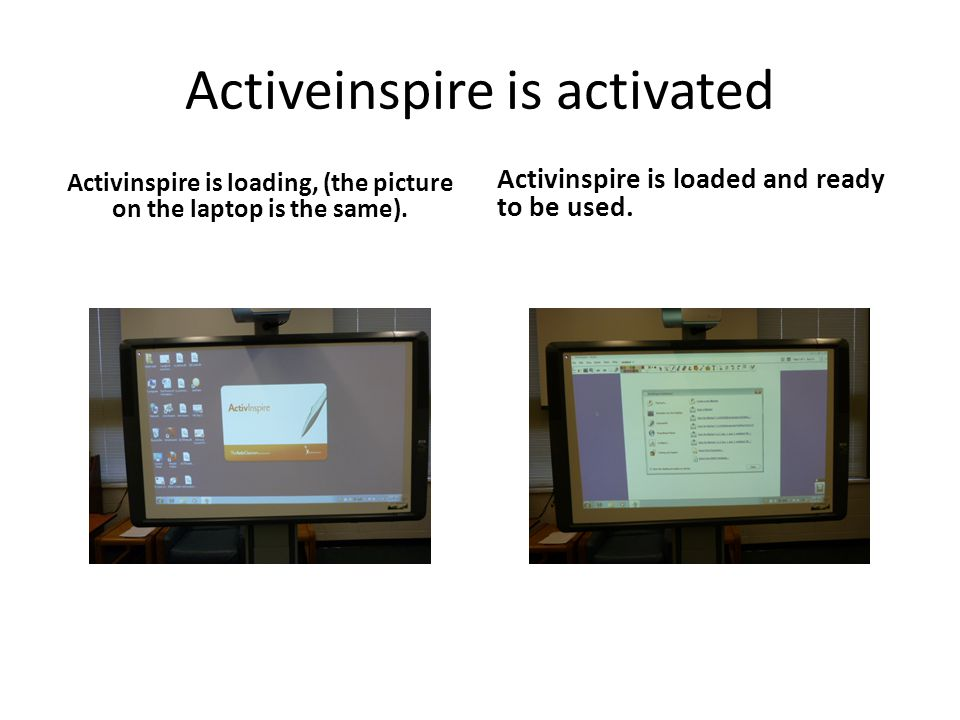 Activeinspire is activated