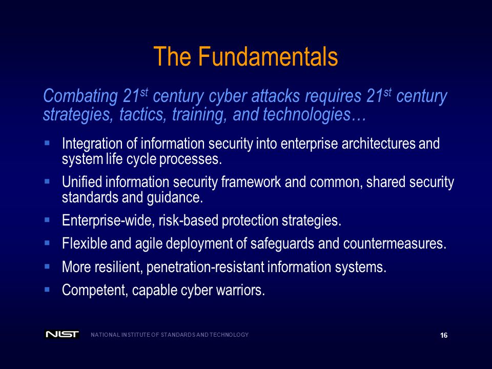 The Fundamentals Combating 21st century cyber attacks requires 21st century. strategies, tactics, training, and technologies…