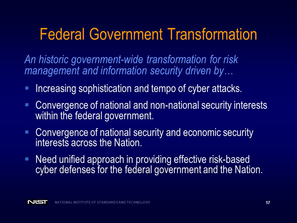 Federal Government Transformation