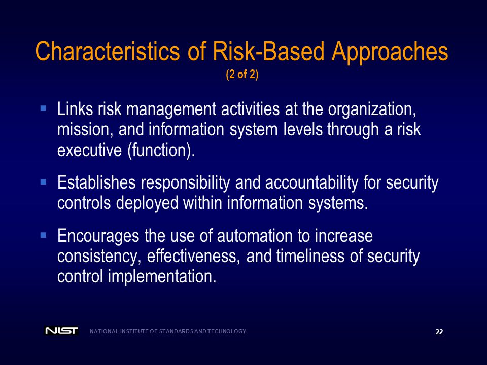 Characteristics of Risk-Based Approaches (2 of 2)