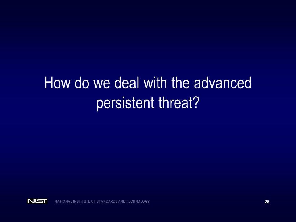 How do we deal with the advanced persistent threat