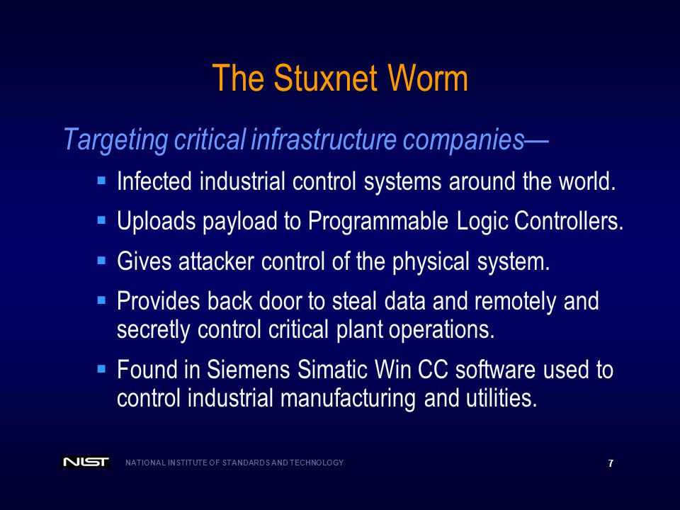 The Stuxnet Worm Targeting critical infrastructure companies—