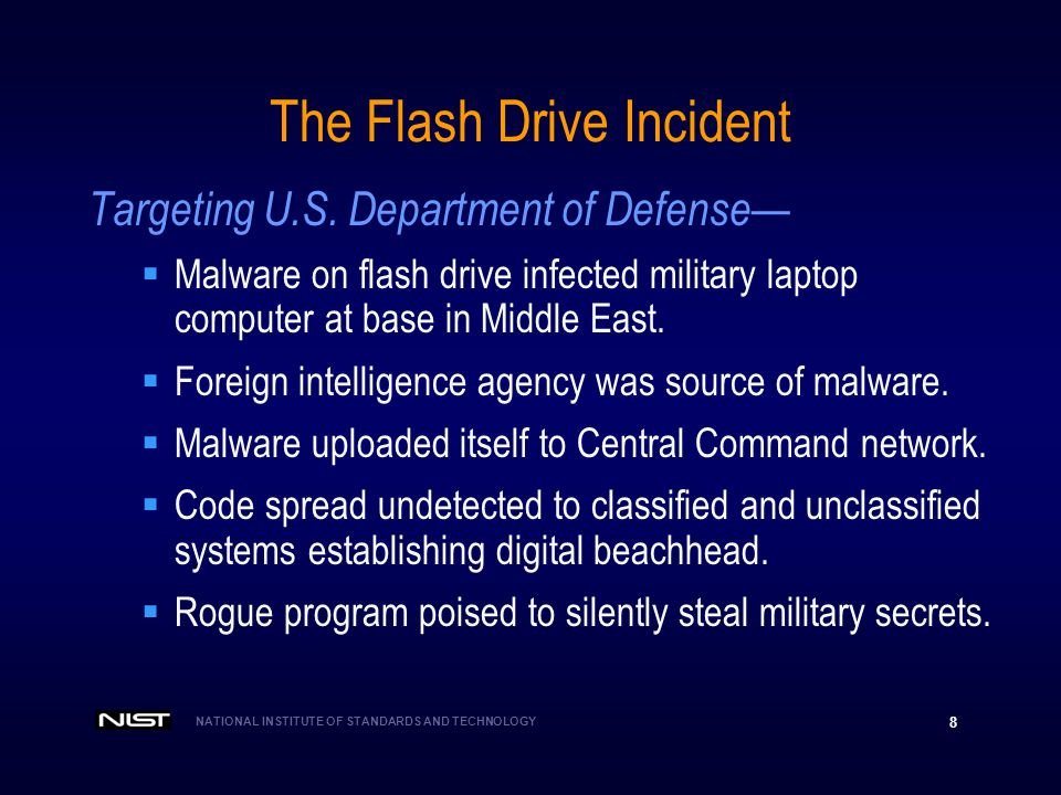 The Flash Drive Incident