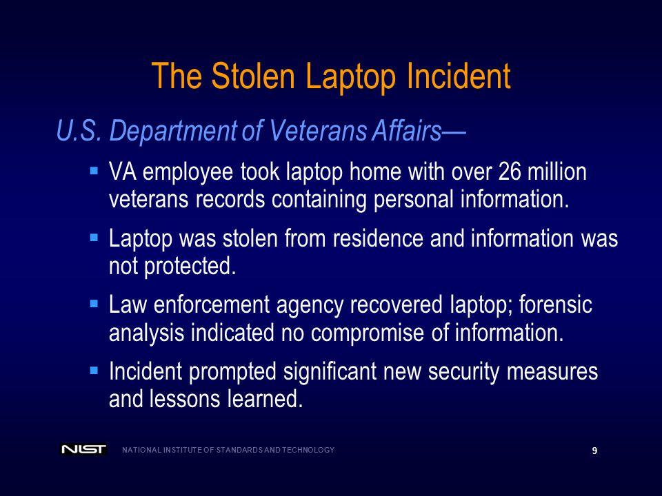 The Stolen Laptop Incident