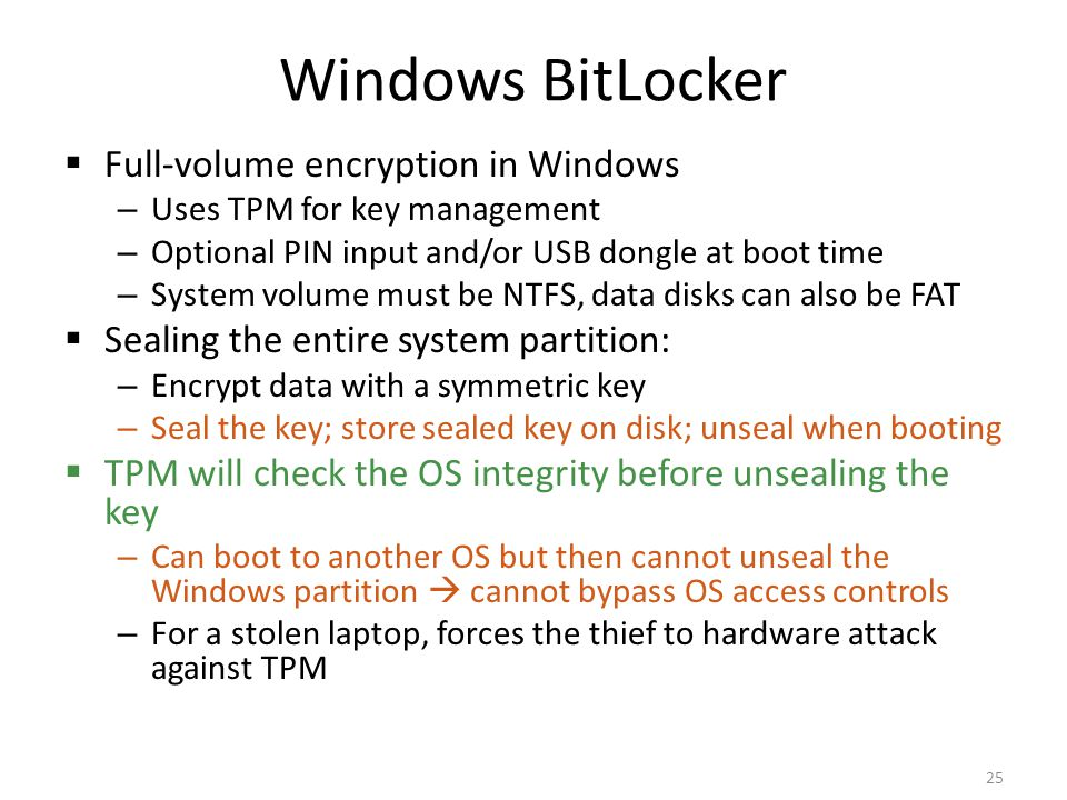 Windows BitLocker Full-volume encryption in Windows