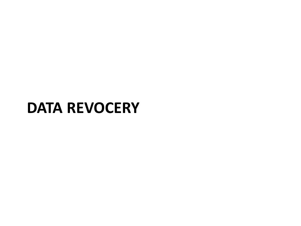 Data Revocery