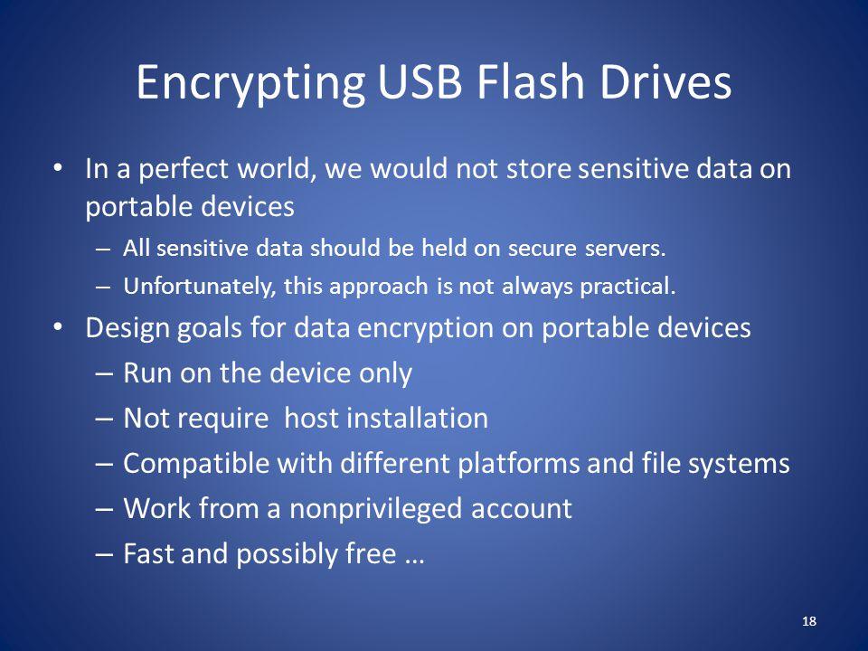 Encrypting USB Flash Drives