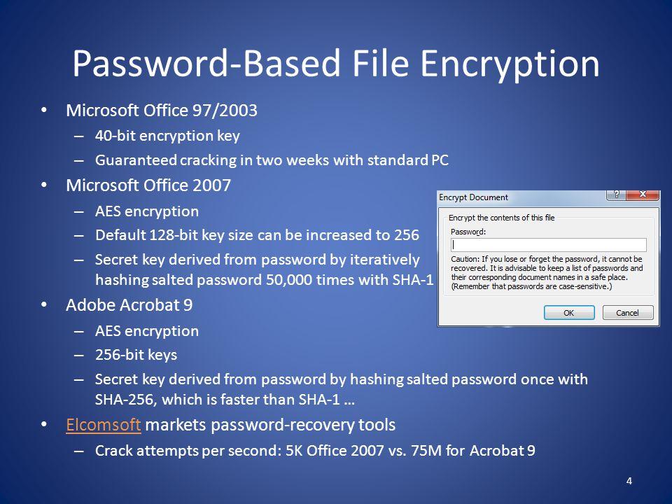 Password-Based File Encryption