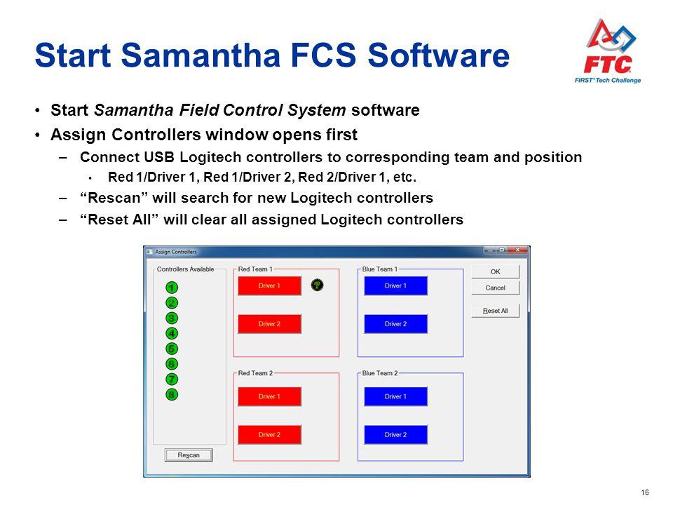 Start Samantha FCS Software