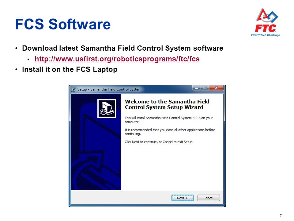 FCS Software Download latest Samantha Field Control System software