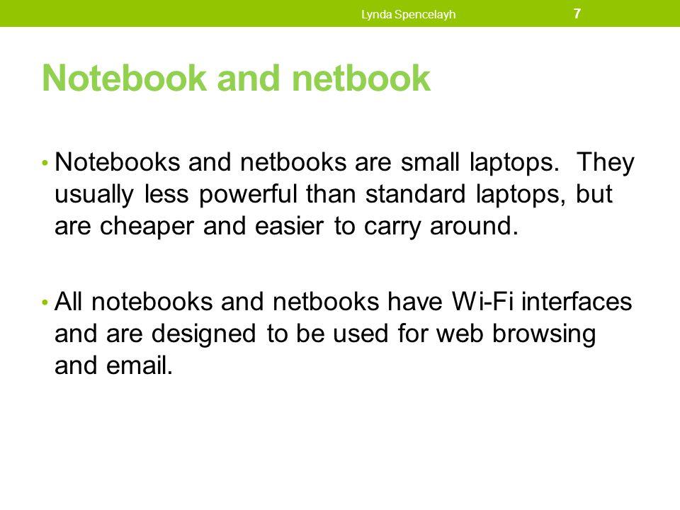 Lynda Spencelayh Notebook and netbook.