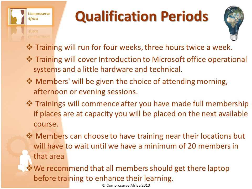 Qualification Periods