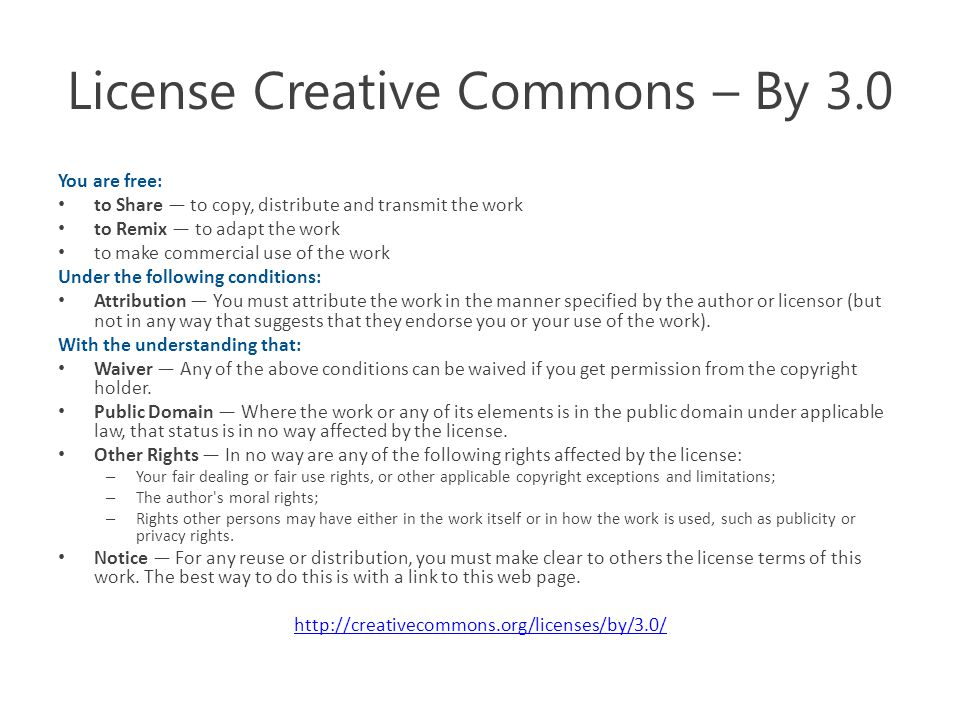 License Creative Commons – By 3.0