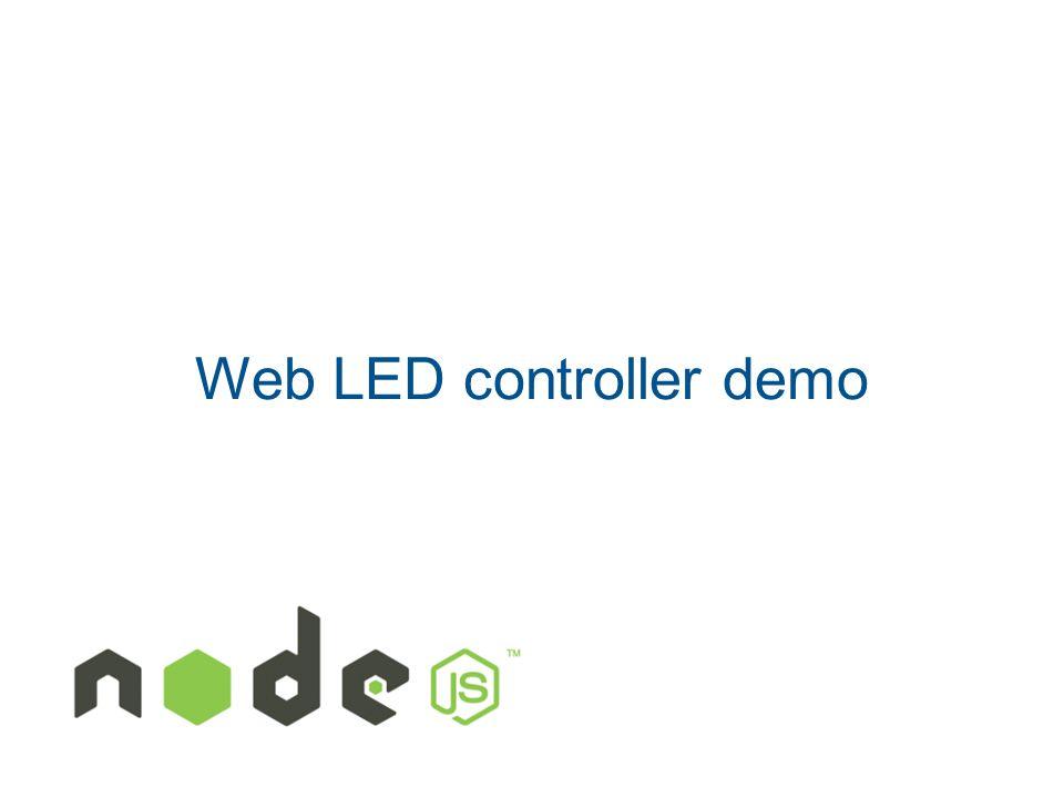 Web LED controller demo