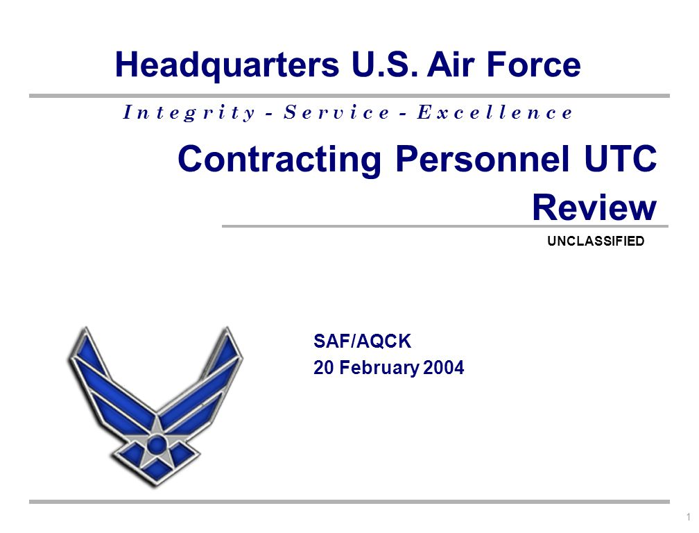 Contracting Personnel UTC Review