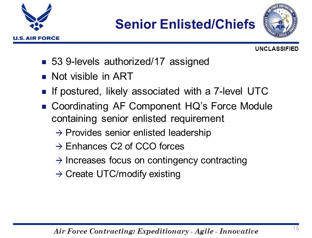 Senior Enlisted/Chiefs