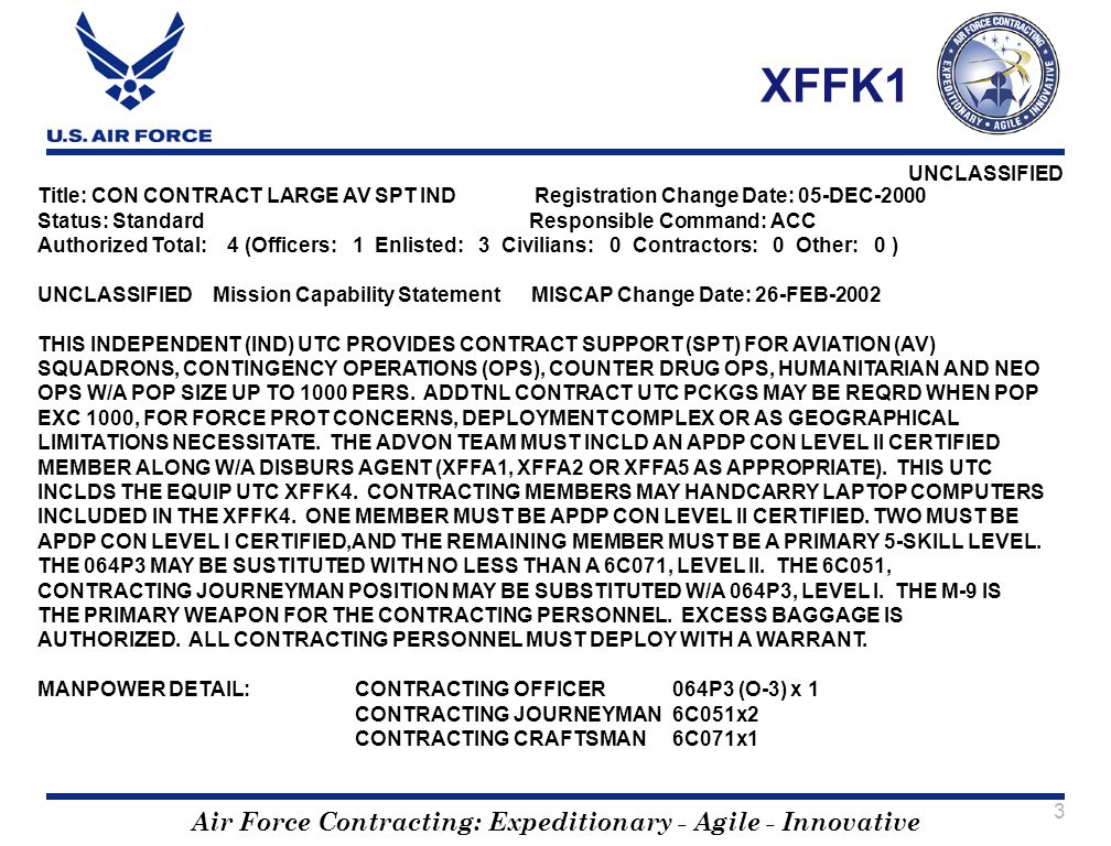 XFFK1 Title: CON CONTRACT LARGE AV SPT IND Registration Change Date: 05-DEC-2000.