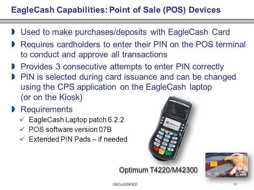 EagleCash Capabilities: Point of Sale (POS) Devices