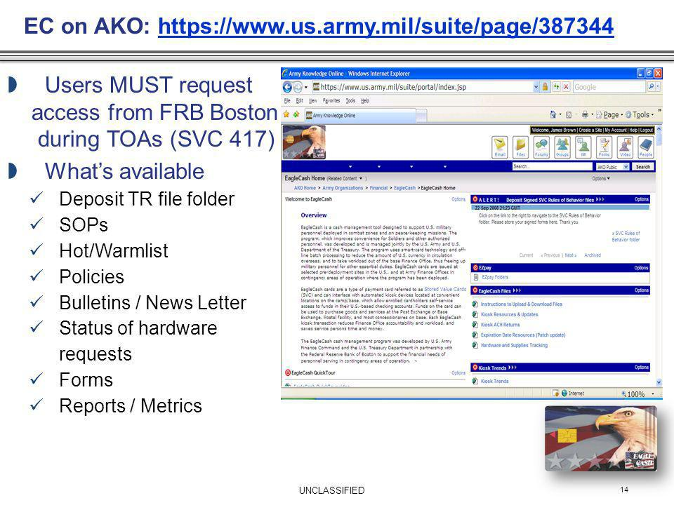 EC on AKO: https://www.us.army.mil/suite/page/387344