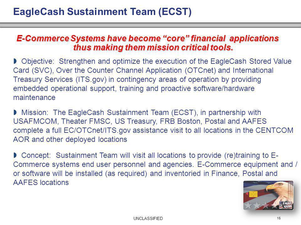 EagleCash Sustainment Team (ECST)
