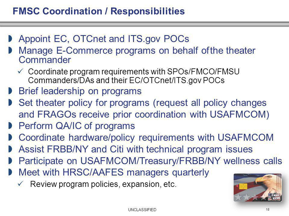 FMSC Coordination / Responsibilities