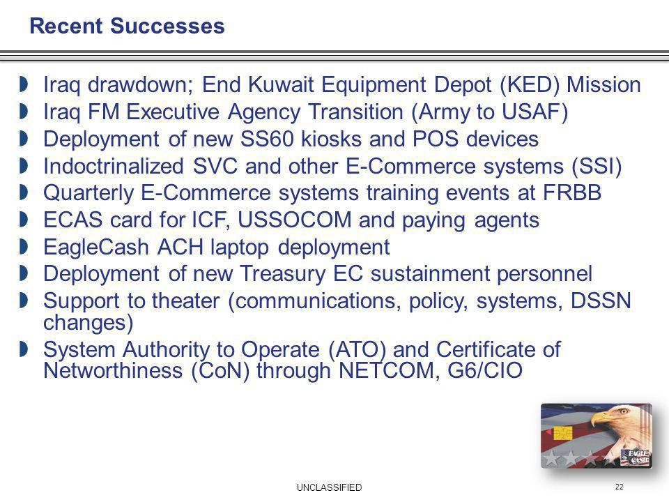 Iraq drawdown; End Kuwait Equipment Depot (KED) Mission