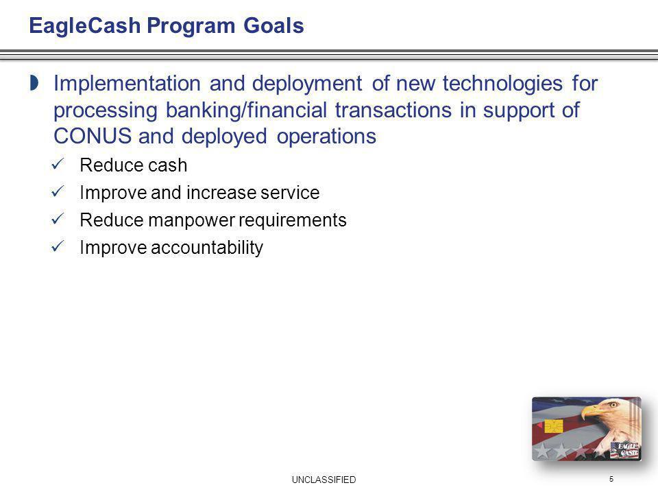 EagleCash Program Goals