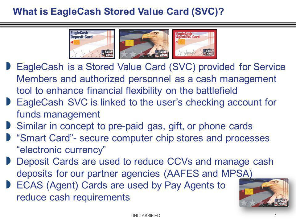 What is EagleCash Stored Value Card (SVC)