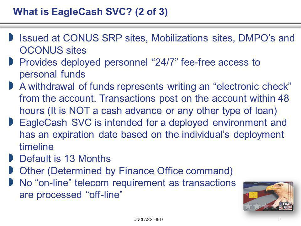 What is EagleCash SVC (2 of 3)