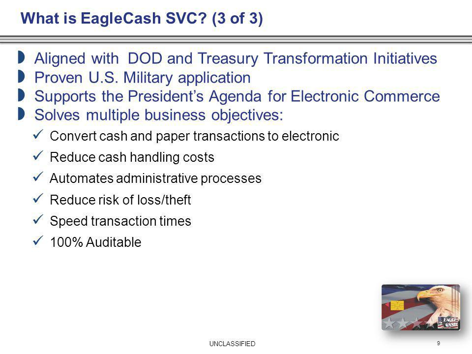 What is EagleCash SVC (3 of 3)
