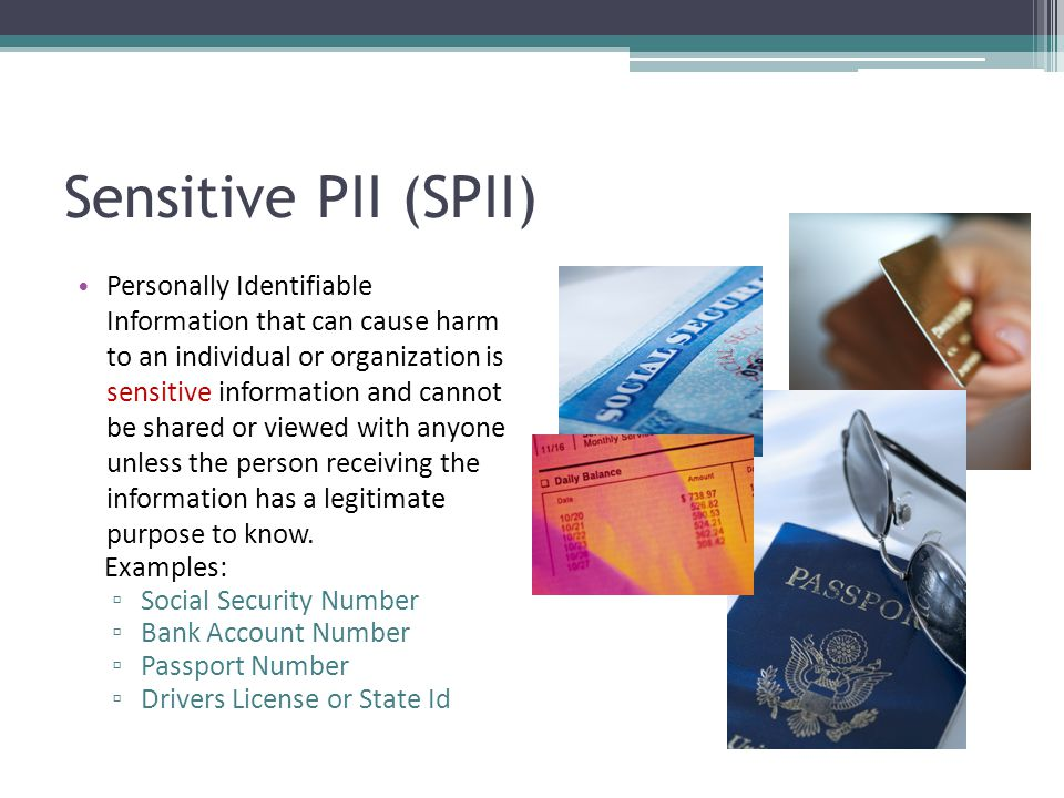 Sensitive PII (SPII)
