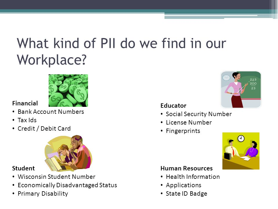 What kind of PII do we find in our Workplace