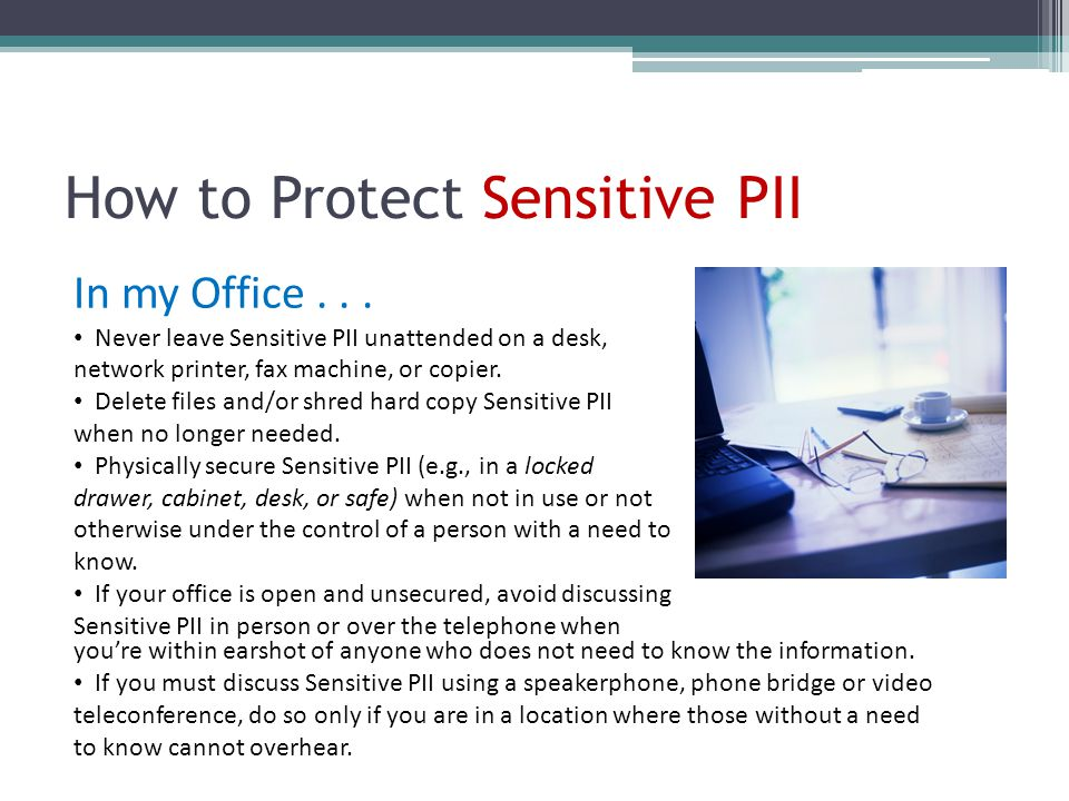 How to Protect Sensitive PII