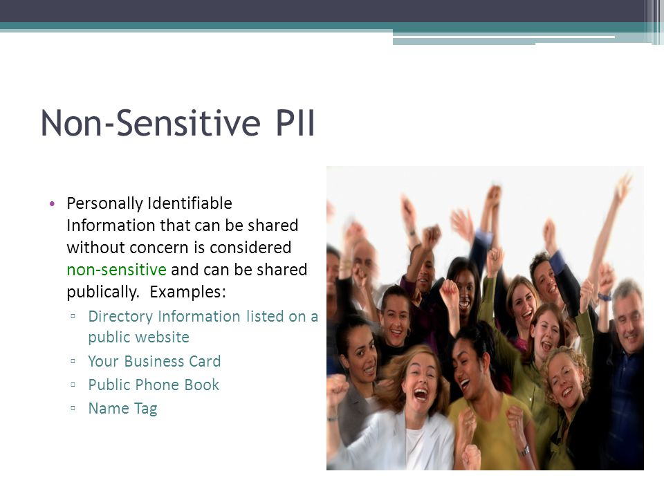 Non-Sensitive PII