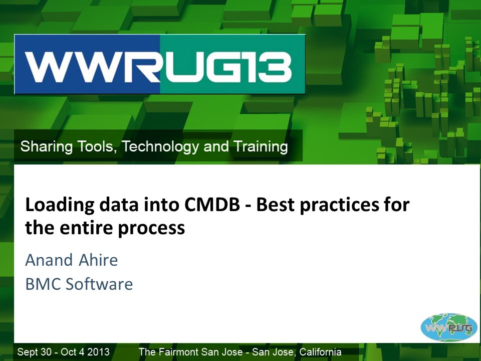 Loading data into CMDB - Best practices for the entire process