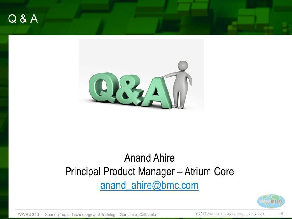 Principal Product Manager – Atrium Core
