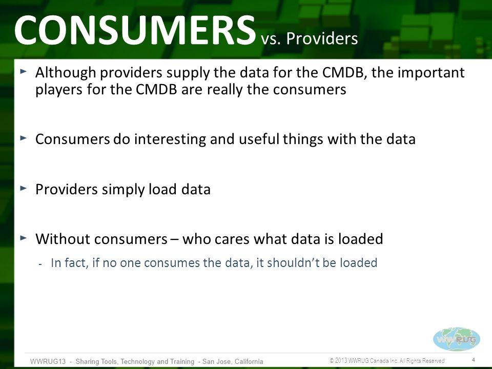 CONSUMERS vs. Providers