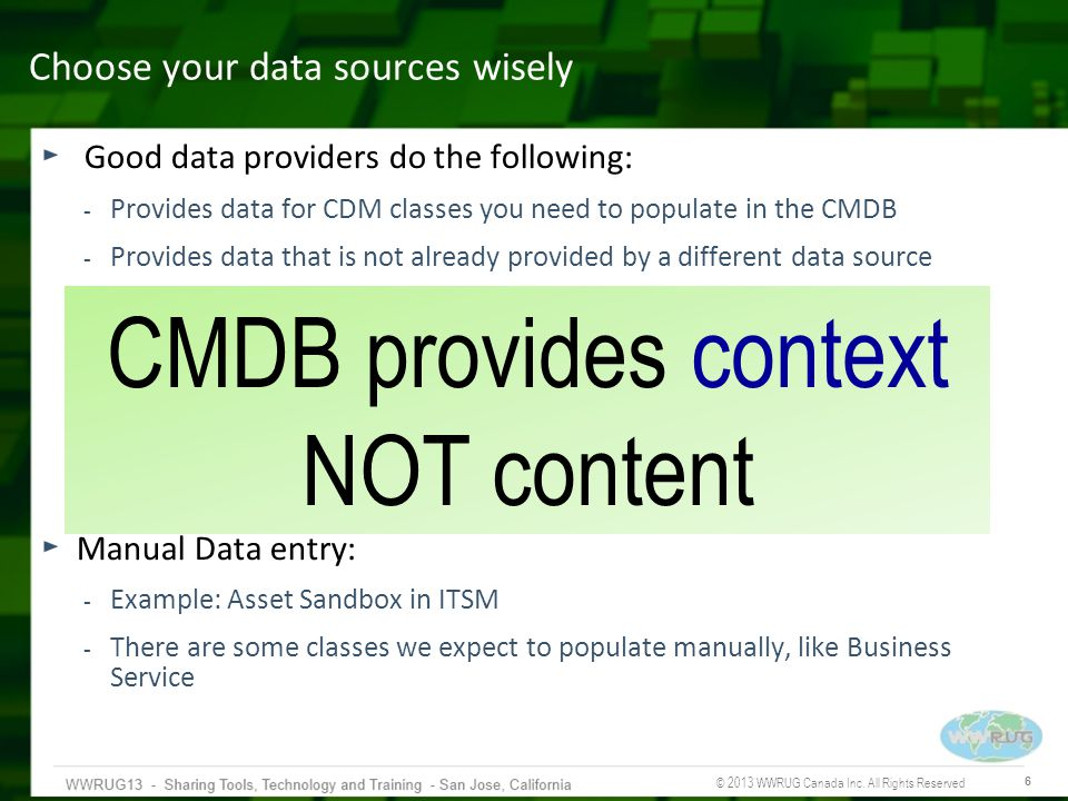 Choose your data sources wisely