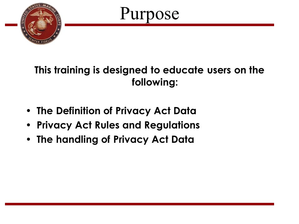 This training is designed to educate users on the following: