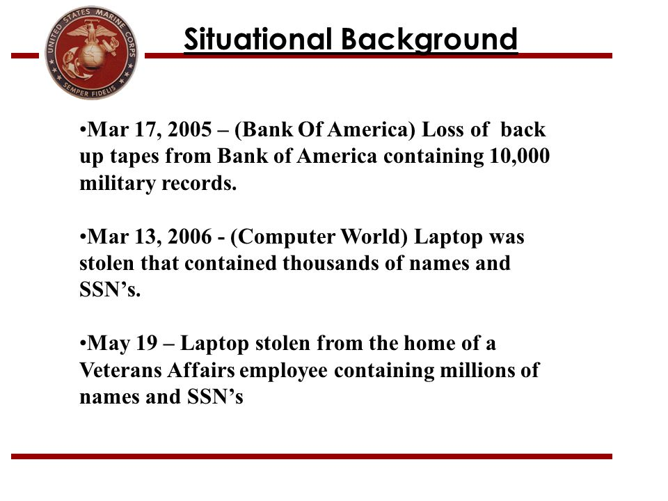 Situational Background