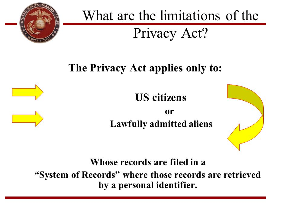What are the limitations of the Privacy Act