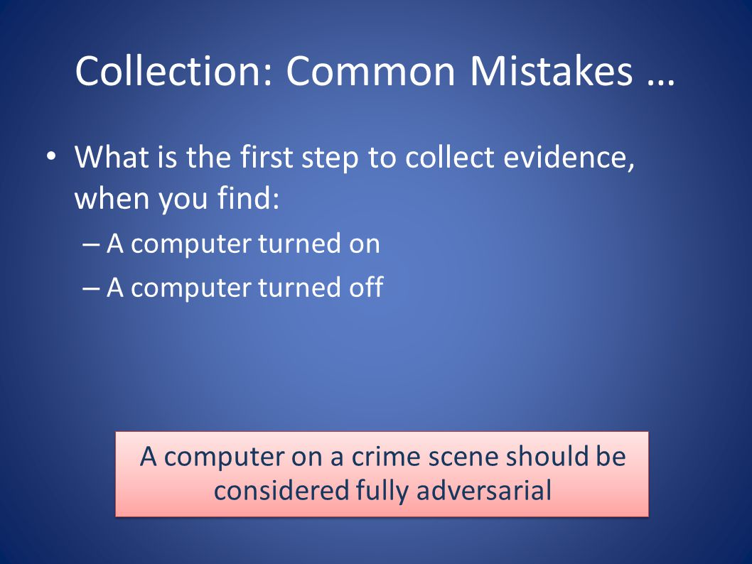 Collection: Common Mistakes …