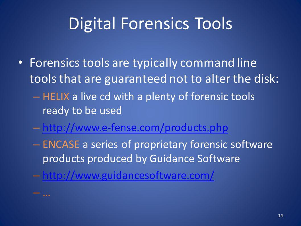 Digital Forensics Tools
