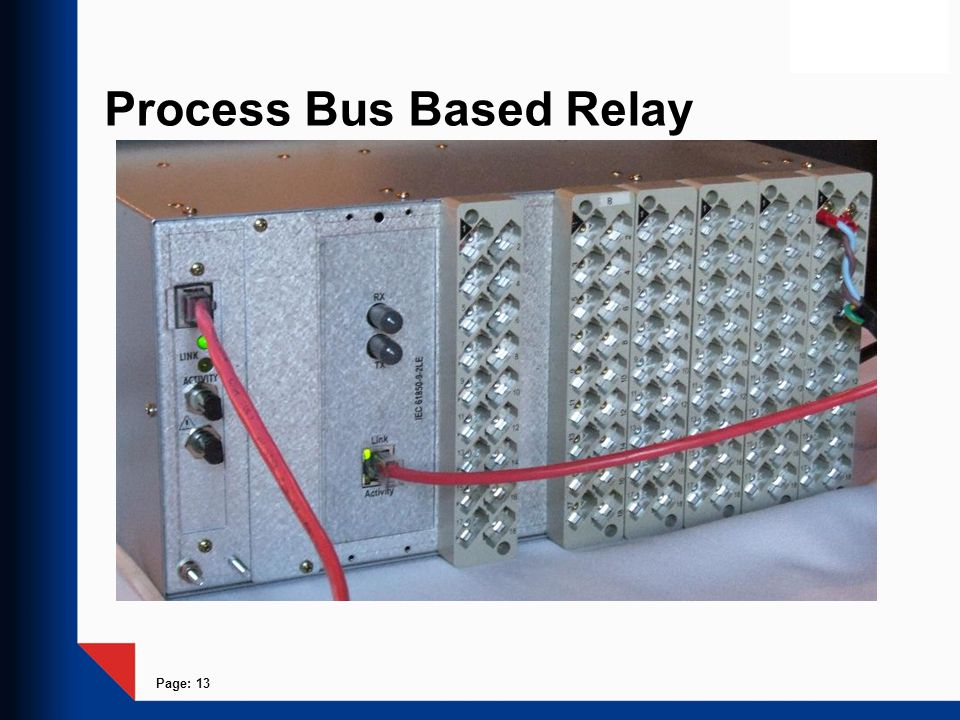 Process Bus Based Relay