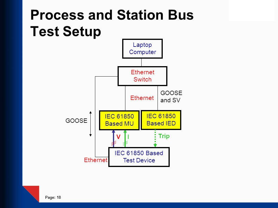 Process and Station Bus Test Setup