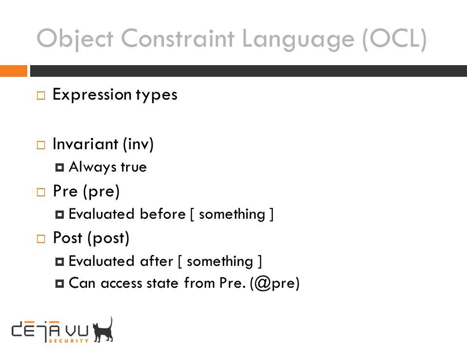 Object Constraint Language (OCL)