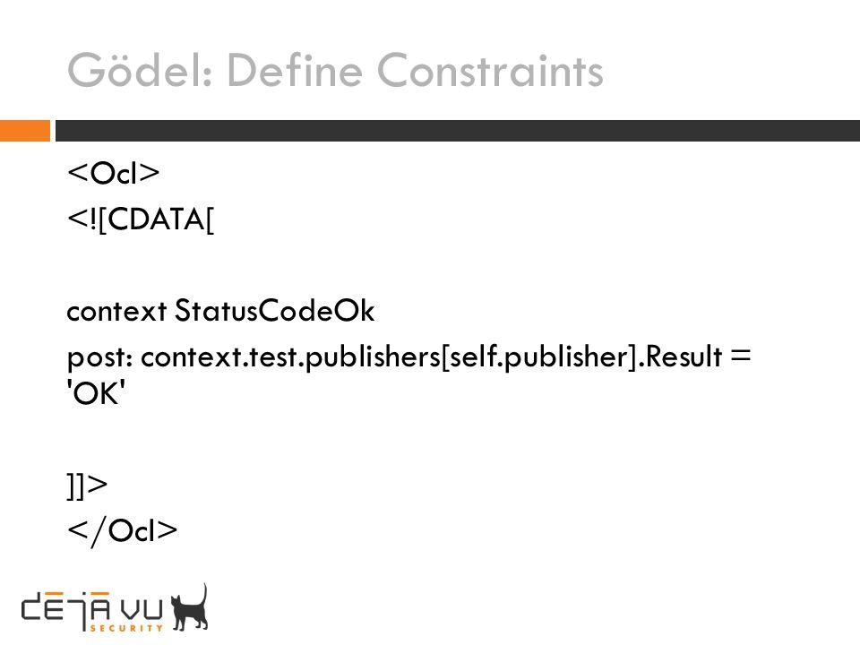 Gödel: Define Constraints