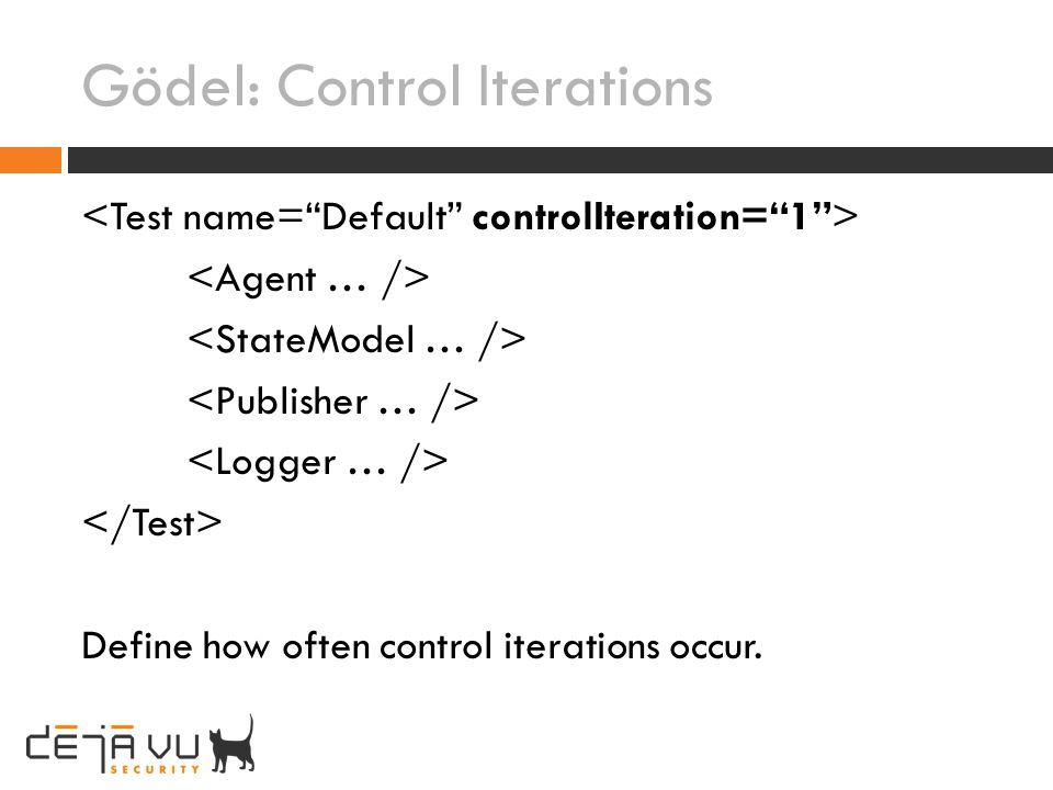 Gödel: Control Iterations